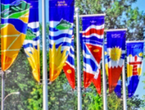 Abstraktné dekoračné vlajky