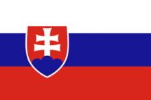 Flag of Slovakia horizontal