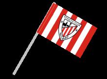 Athletic Bilbao športová vlajka s plastovou tyčou
