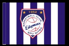 BK EDYMAX SPU Nitra športová vlajka s tunelom