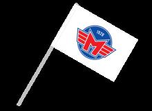 České Budejovice športová vlajka s plastovou tyčou