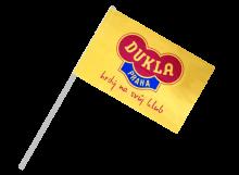 Dukla Praha športová vlajka s plastovou tyčou