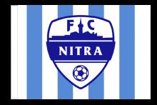 FC Nitra športová vlajka s tunelom