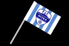 FC Nitra športová vlajka s plastovou tyčkou