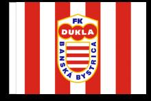 FK Dukla Banská Bystrica športová vlajka s tunelom