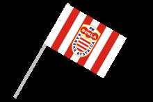 FK Dukla Banská Bystrica športová vlajka s plastovou tyčkou