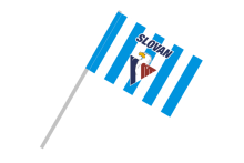 HC Slovan Bratislava šport. vlajka na plastovej tyčke