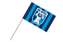 HK Nitra športová vlajka s plastovou tyčkou