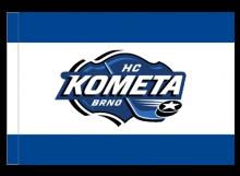 Kometa Brno športová vlajka s tunelom