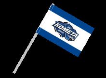 Kometa Brno športová vlajka s plastovou tyčou