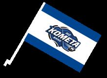 Kometa Brno športová autovlajka