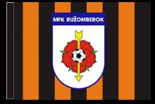 MFK Ružomberok športová vlajka s tunelom
