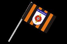 MFK Ružomberok športová vlajka s plastovou tyčkou