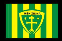 MŠK Žilina športová vlajka s tunelom