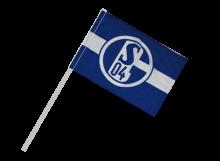 Schalke športová vlajka s plastovou tyčou