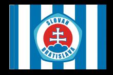 ŠK Slovan Bratislava športová vlajka s tunelom