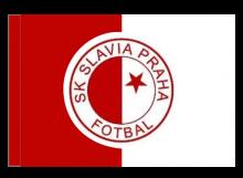 Slávia Praha športová vlajka s tunelom