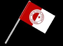 Slávia Praha športová vlajka s plastovou tyčou