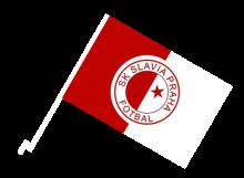 Slávia Praha športová autovlajka