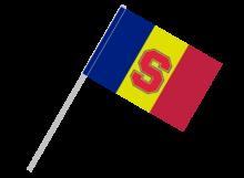 Sparta Praha športová vlajka s plastovou tyčou
