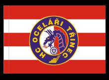 Třinec športová vlajka s tunelom