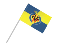 Villarreal športová vlajka s plastovou tyčou