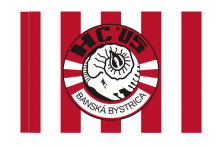HC 05 Banská Bystrica športová vlajka s tunelom